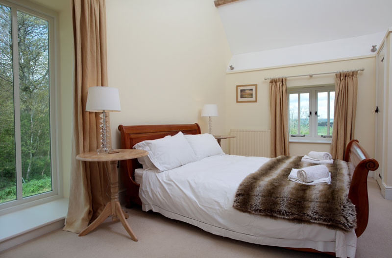 The Stables Kingsized Ensuite Bedroom - Abbotsbury Wedding Accommodation