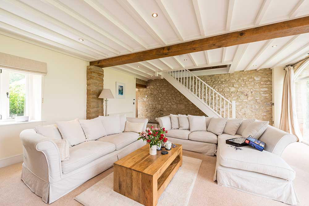 The Stables Living Room - Abbotsbury Wedding Accommodation